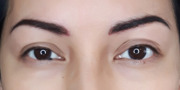Before and After Photos Brow Ink Permanent Cosmetics Powder Brows Eyeliner After
